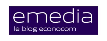 Logo eMedia Econocom - Couthon Conseil - Recrutement Big Data Science et Digital