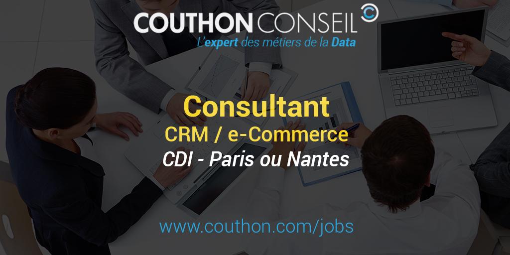 consultant crm    e-commerce  paris ou nantes