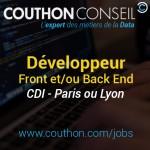 Développeur back et/ou front end [Paris ou Lyon]