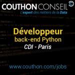 Développeur back-end Python [Paris]