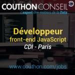 Développeur front-end JavaScript [Paris]