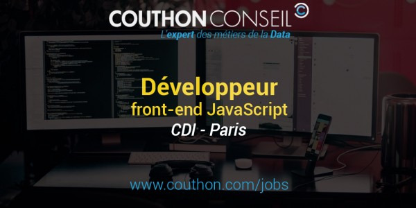 Développeur front-end JavaScript [Paris]