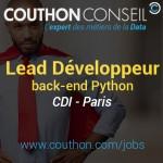 Lead Développeur back-end Python [Paris]