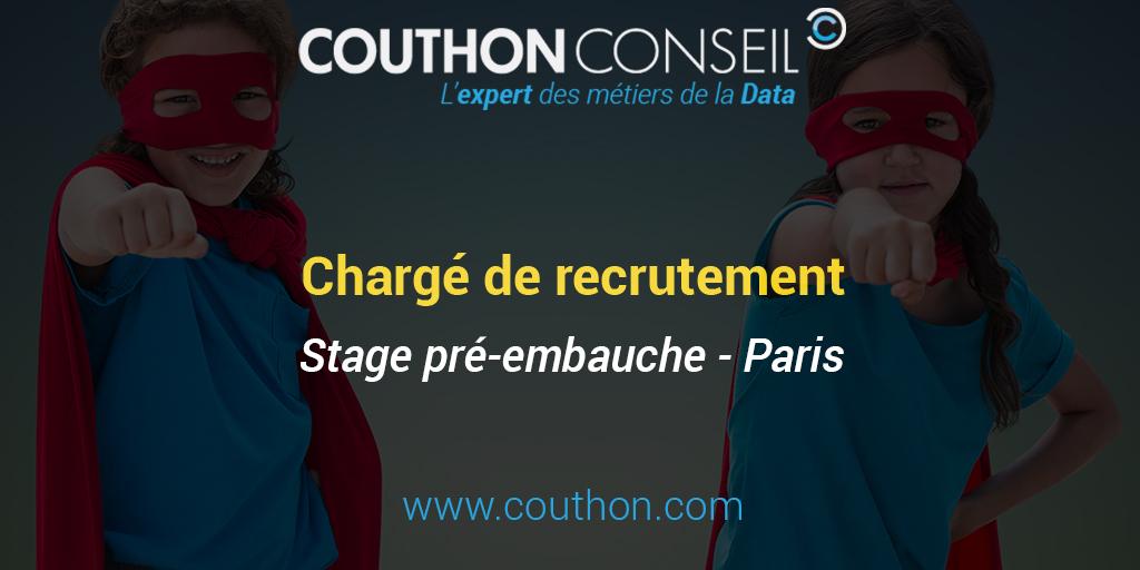 Charg de recrutement stage paris couthon conseil - Cabinet de recrutement paris marketing ...