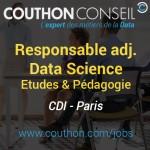 Responsable adj. Etudes et Pédagogie Data Science [Paris]