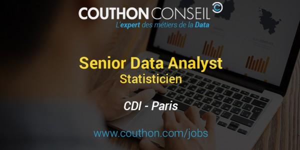 Senior Data Analyst – Statisticien [Paris]