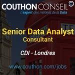 Senior Data Analyst Consultant [Londres]