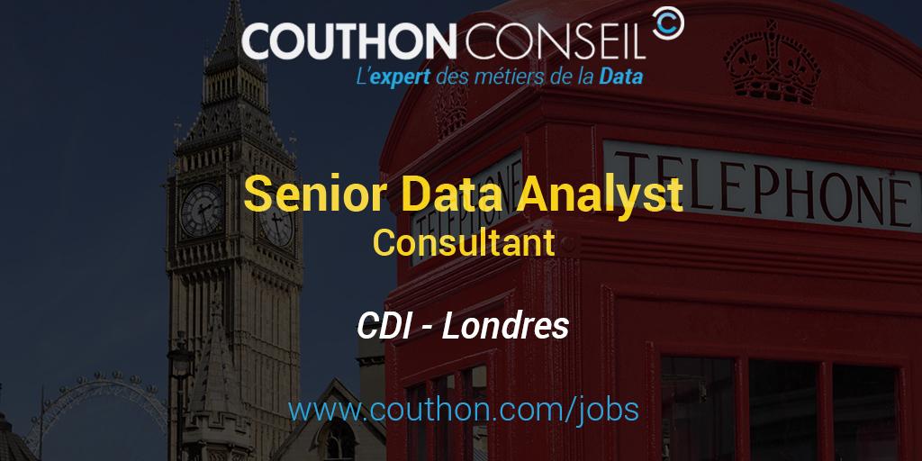 senior data analyst consultant  londres